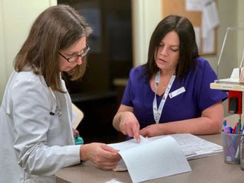 Dr Lynn with nurse